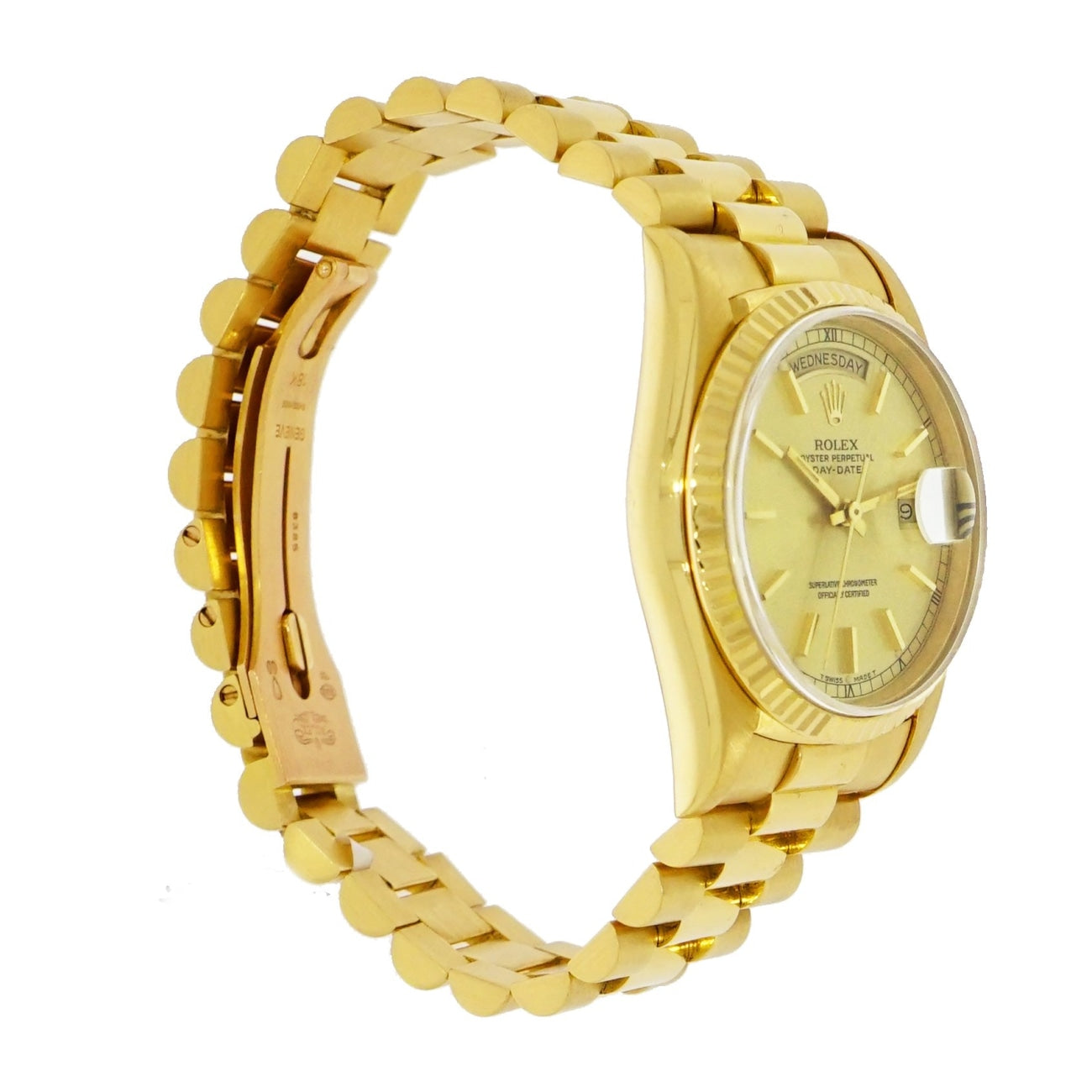 Pre-Owned Rolex Watches - Excellent Vintage Day-Date 36 mm in 18 karat yellow gold | Manfredi Jewels