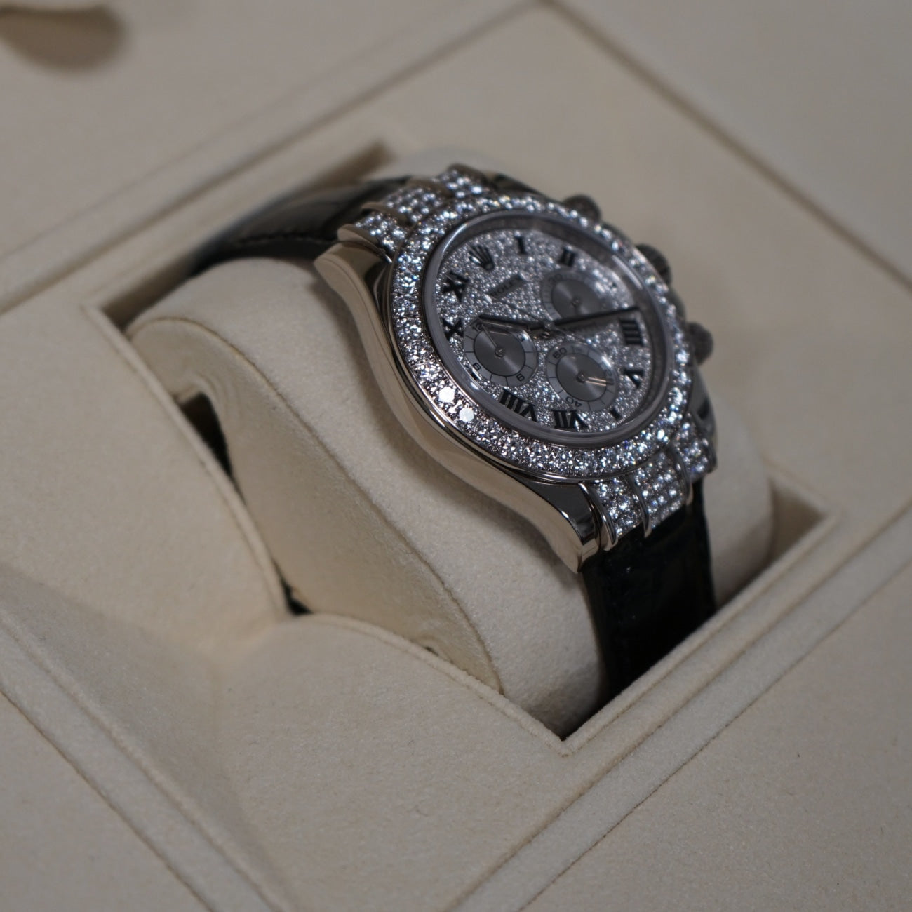 Pre-Owned Rolex Jewelry - LNIB Rolex Cosmograph Daytona 40mm white gold with diamonds | Manfredi Jewels