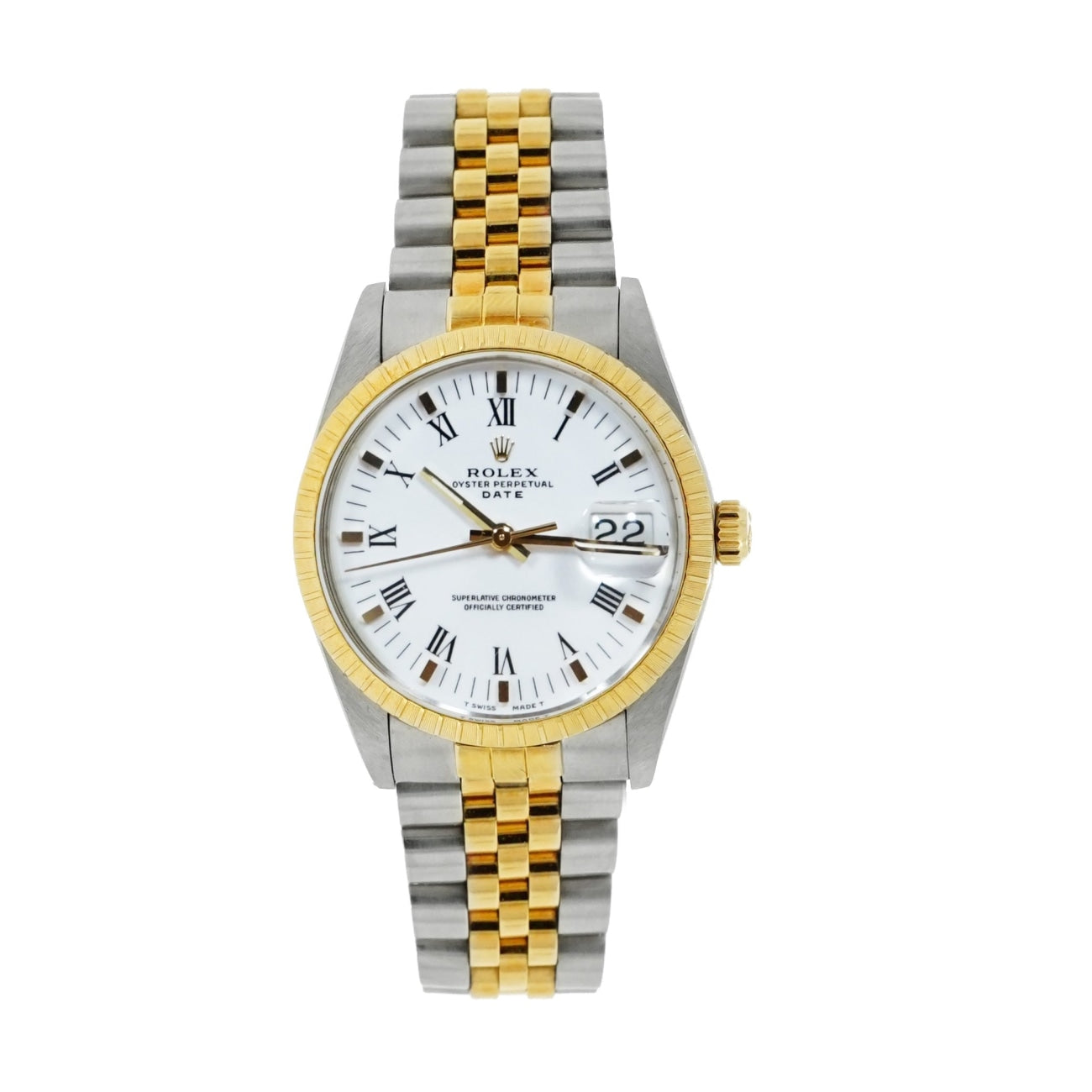 Pre-Owned Rolex Watches - Oyster Perpetual Date in Stainless Steel and Yellow Gold | Manfredi Jewels