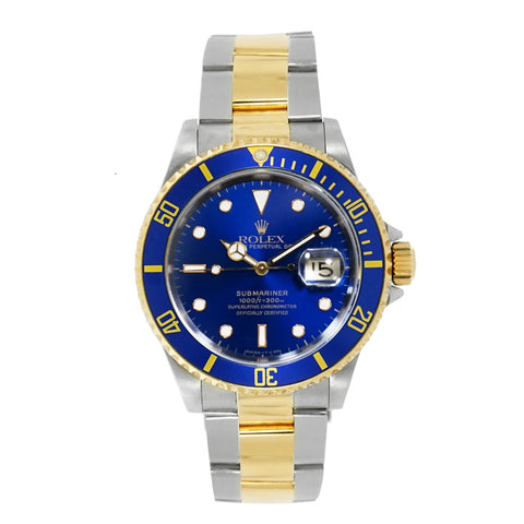 Pre-Owned Rolex Watches - Submariner Blue Dial Stainless Steel | Manfredi Jewels