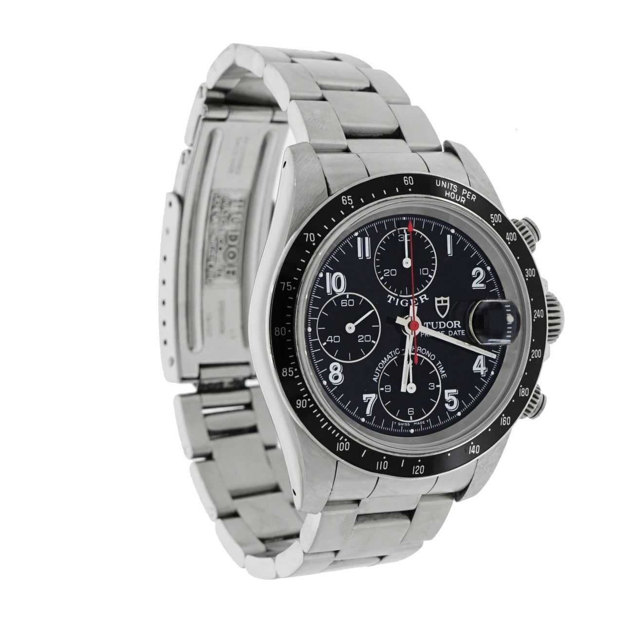 Pre-Owned Breitling Watches - Tudor Prince Date Chronograph 79280 in Stainless Steel | Manfredi Jewels