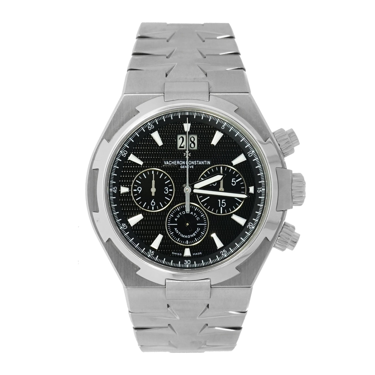 Pre-Owned Vacheron Constantin Watches - Overseas Chronograph Stainless Steel | Manfredi Jewels