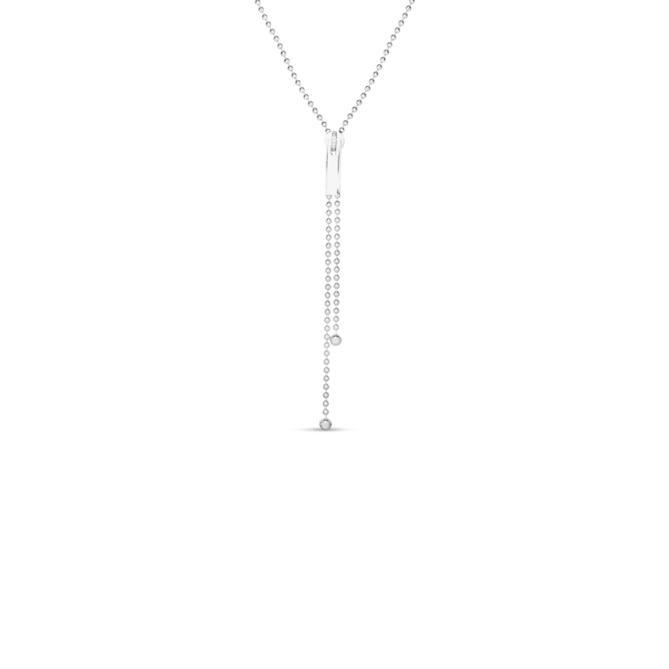 Roberto Coin Jewelry - 18K 33 LONG ZIPPER NECKLACE W. DIAMOND ACCENT ZIPPER PULL | Manfredi Jewels