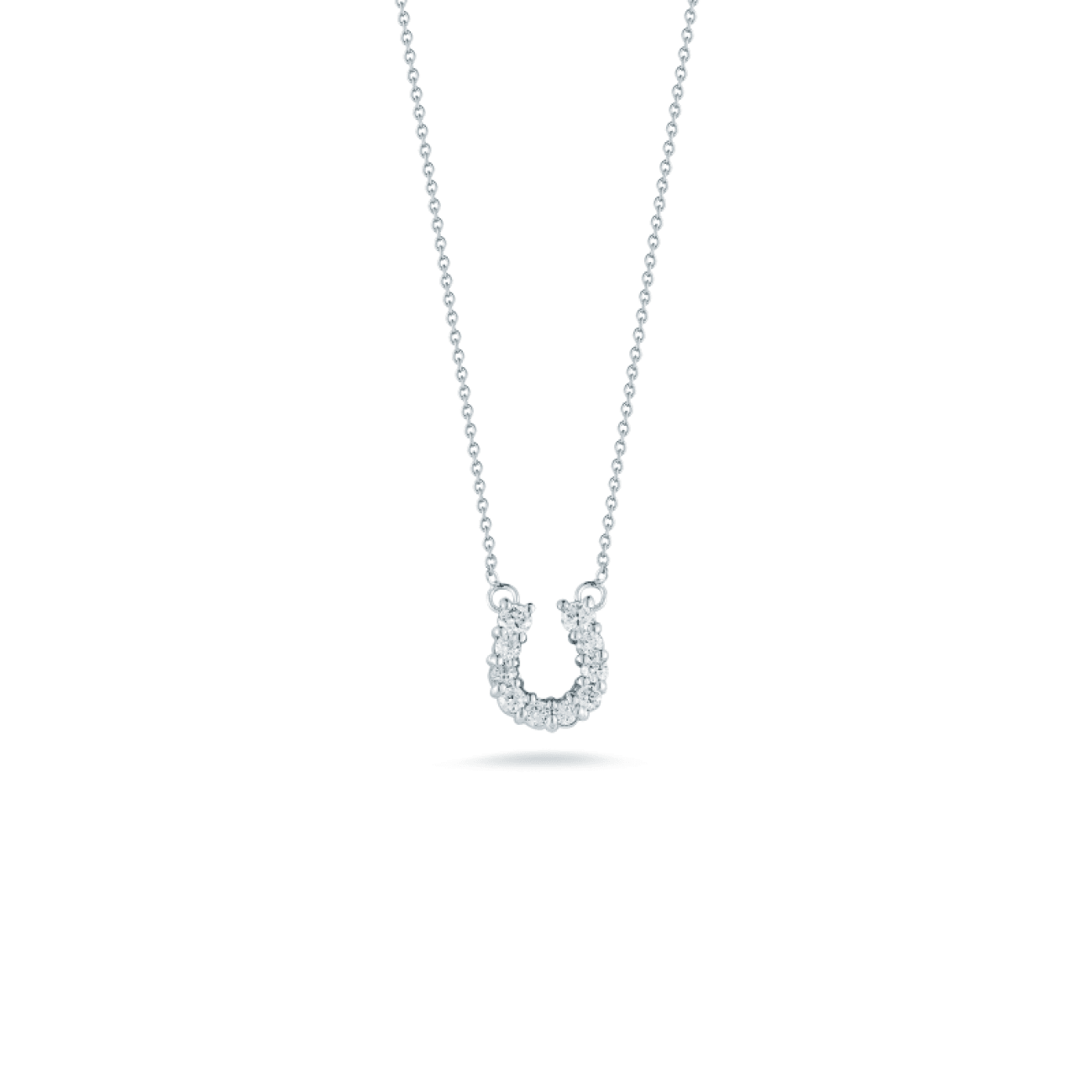 Roberto Coin Jewelry - 18KT GOLD HORSESHOE PENDANT WITH DIAMONDS | Manfredi Jewels
