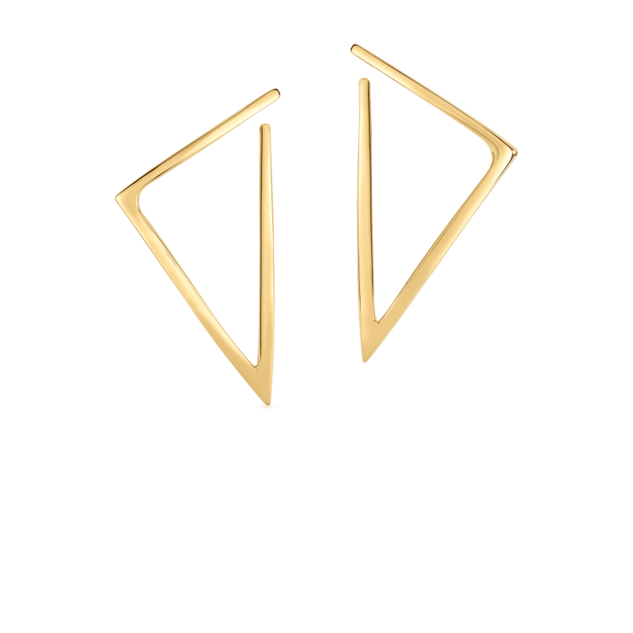 Roberto Coin Jewelry - 18KT GOLD TRIANGLE EARRINGS | Manfredi Jewels