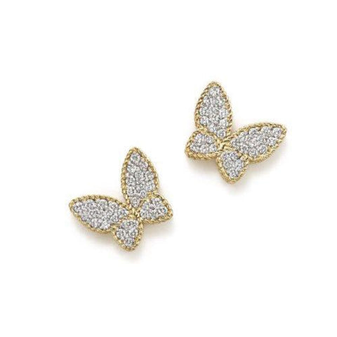 Roberto Coin Jewelry - Butterfly Earrings With Diamonds | Manfredi Jewels
