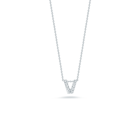 Roberto Coin Jewelry - Love Letter V Pendant with Diamonds | Manfredi Jewels