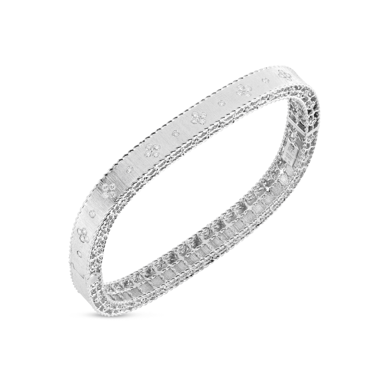 Roberto Coin Jewelry - White Gold Princesse diamond bangle | Manfredi Jewels