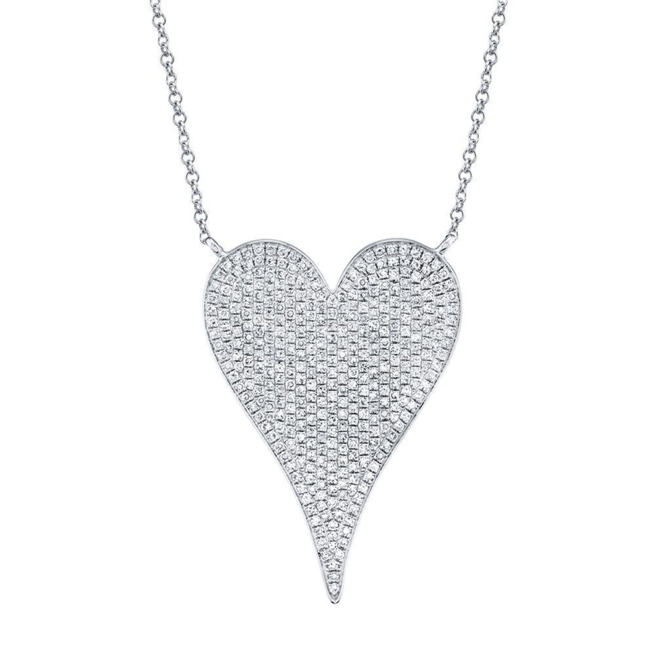 Shy Creation Jewelry - 0.83CT DIAMOND HEART NECKLACE | Manfredi Jewels