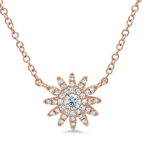 Shy Creation Jewelry - Rose Gold Diamond Necklace | Manfredi Jewels