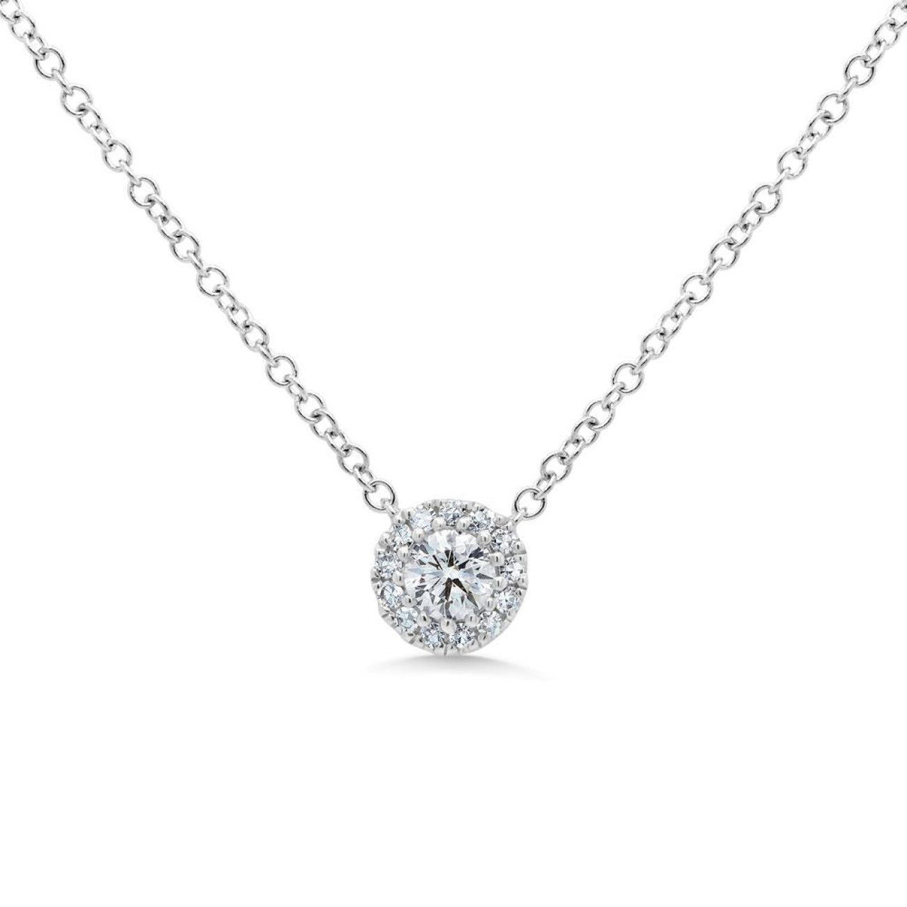 Shy Creation Jewelry - White Gold Diamond Pendant | Manfredi Jewels