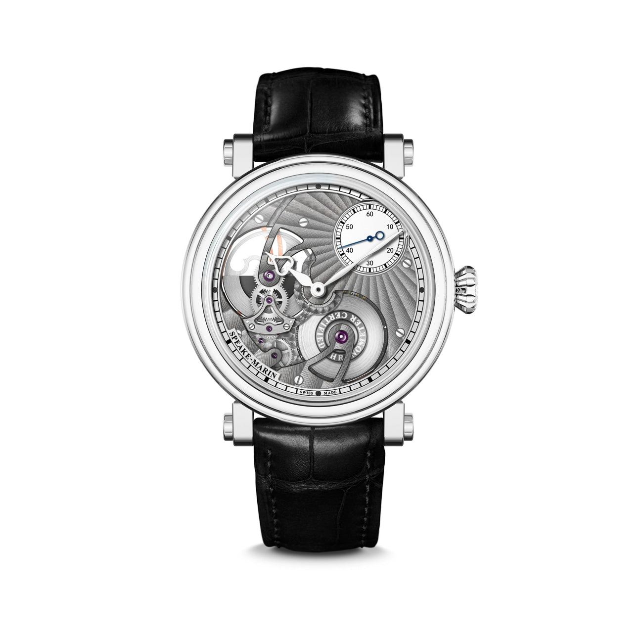 Speake Marin Watches - One&Two Openworked Titanium 42mm | Manfredi Jewels