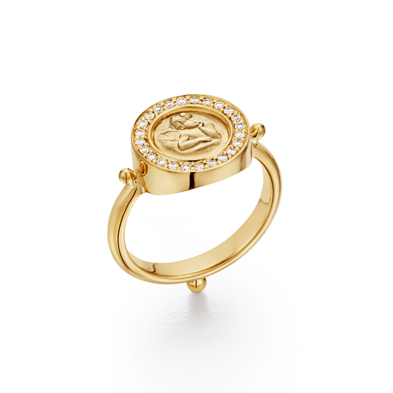 Temple St Clair Jewelry - 18K Angel Ring in diamond pav̩ | Manfredi Jewels