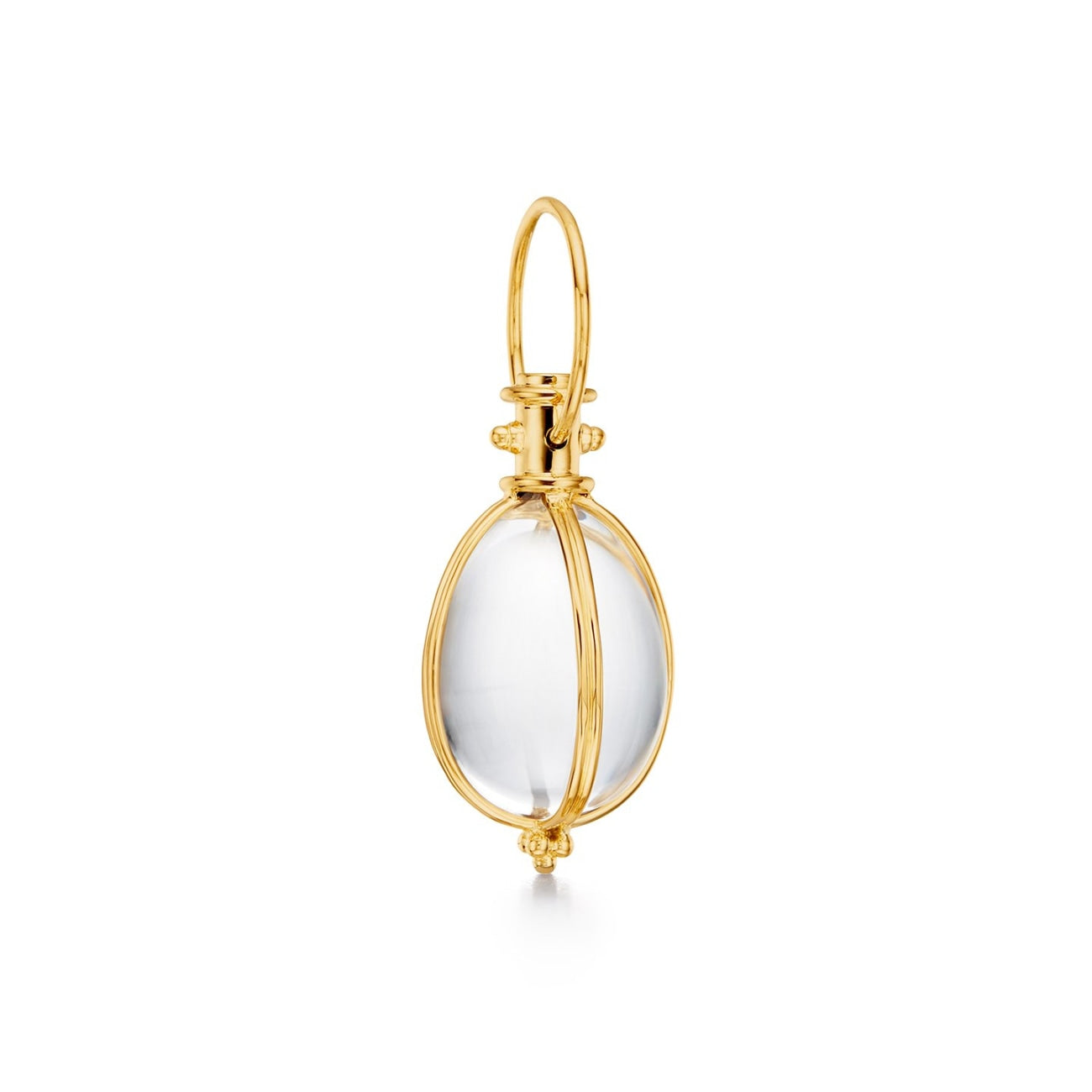 Temple St Clair Jewelry - 18K Classic Oval Amulet in all gold | Manfredi Jewels