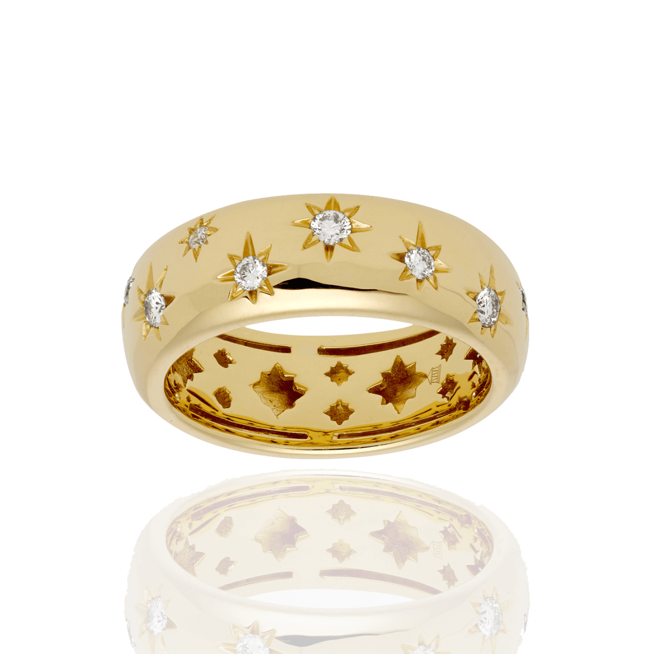Temple St Clair Jewelry - 18K Cosmos Band Ring with diamond | Manfredi Jewels