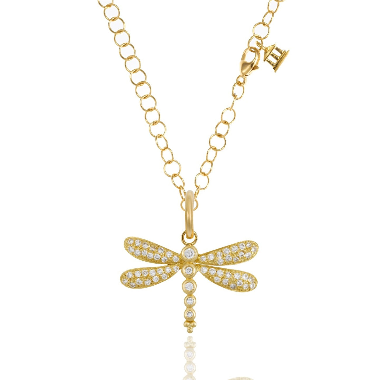 Temple St Clair Jewelry - 18K Dragonfly Pendant with diamond pavé | Manfredi Jewels