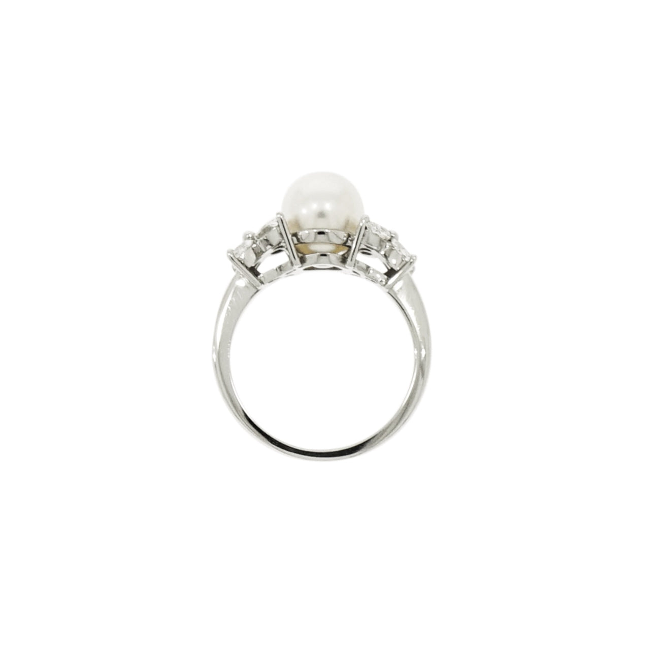 Tiffany & Co. - Estate Jewelry Estate Jewelry - Tiffany & Co. Victoria White Akoya Cultured Pearl and Diamond Platinum Ring | Manfredi