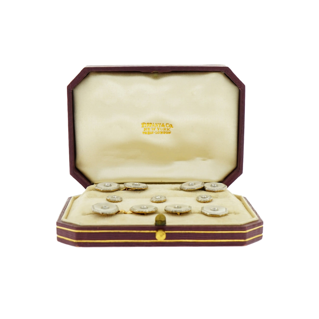Tiffany & Co. - Estate Jewelry Estate Jewelry - Vintage Tiffany & Co. Cufflinks & Studs Dress Set | Manfredi Jewels