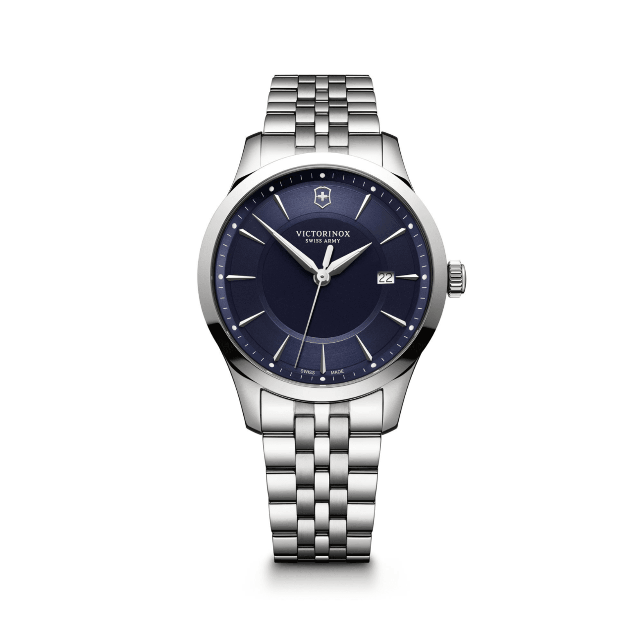 Swiss Army Watch - 40mm Steel Alliance with Blue Dial | Manfredi Jewels