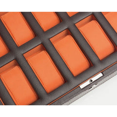 Wolf Accessories - WINDSOR 10 PIECE WATCH BOX- Orange | Manfredi Jewels