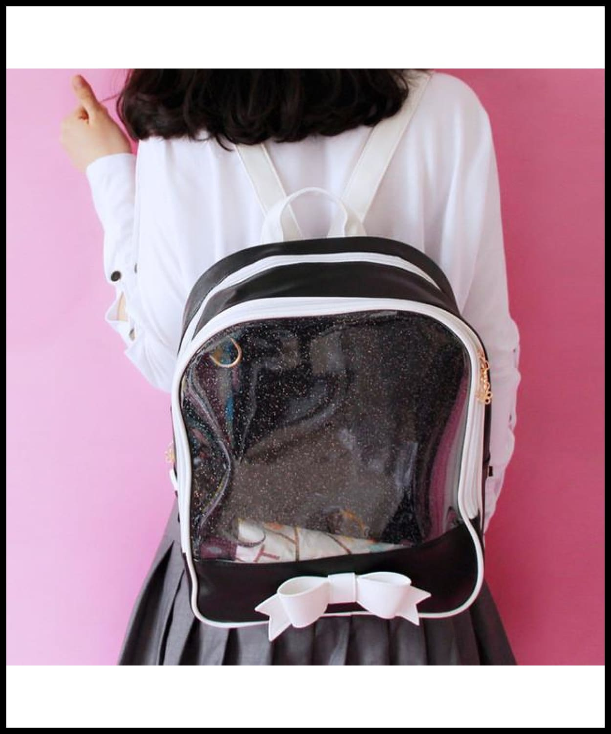 6f8061b65a ... 2017 New Summer Cute Bow Backpacks Candy Transparent Backpacks For  Teenage Girls Female School Shoulder Bag ...
