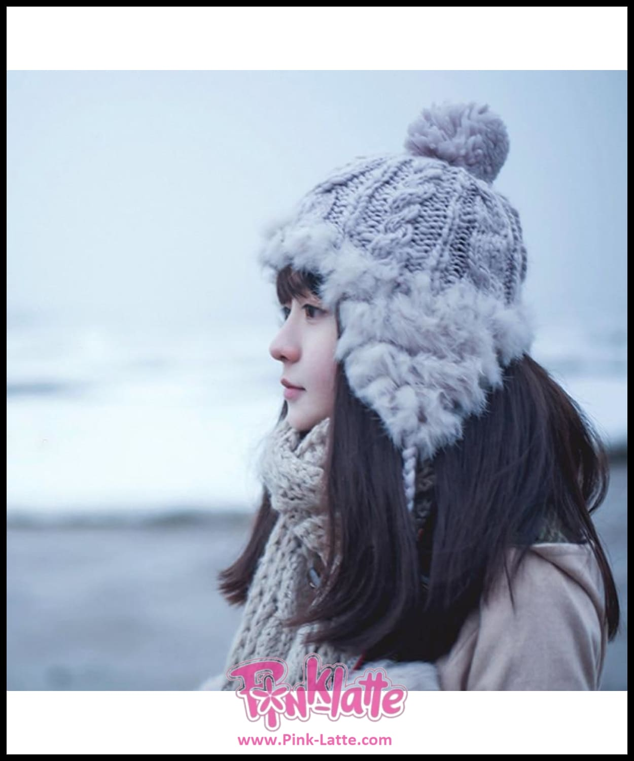 8ee8a774348 2018 Women Girl Rabbit Fur Bomber Hat Knitted Hat Ear Flaps Aviator Trapper  Snow Skiing Caps ...