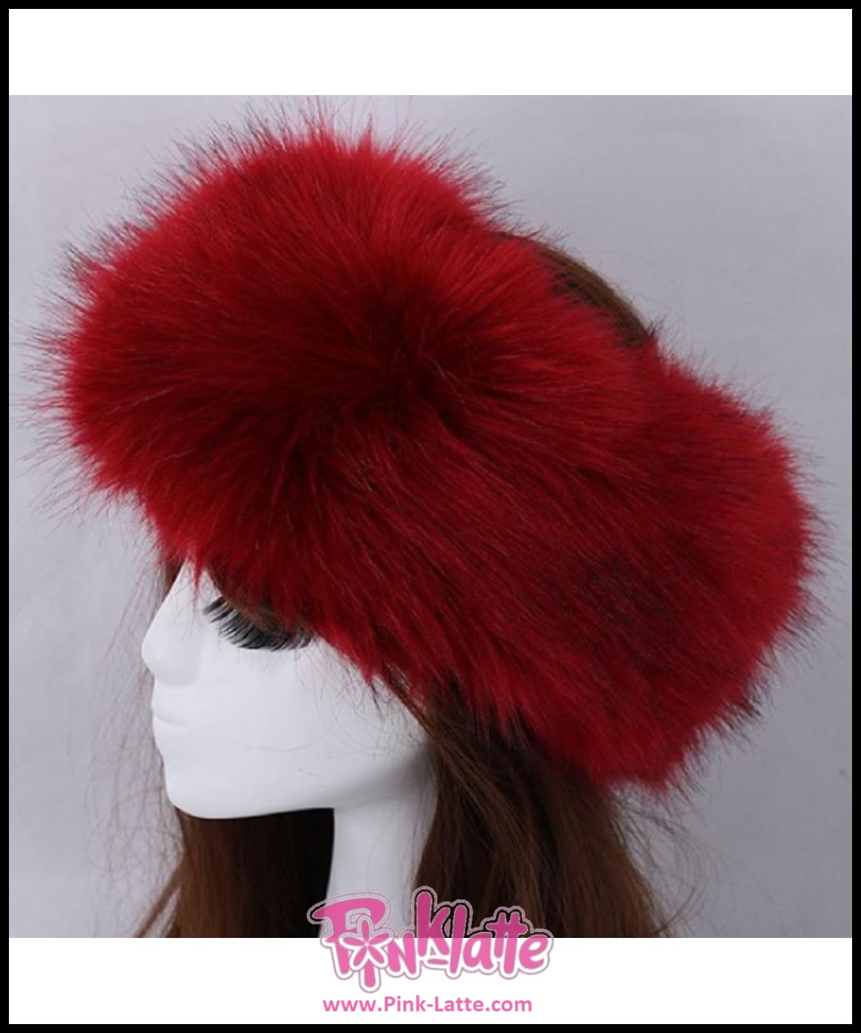 Fur Hat For Women Natural Tick Fluffy Fox Fur Hat Headband Russian Winter  Thick Warm Ears ... af592c6b0af