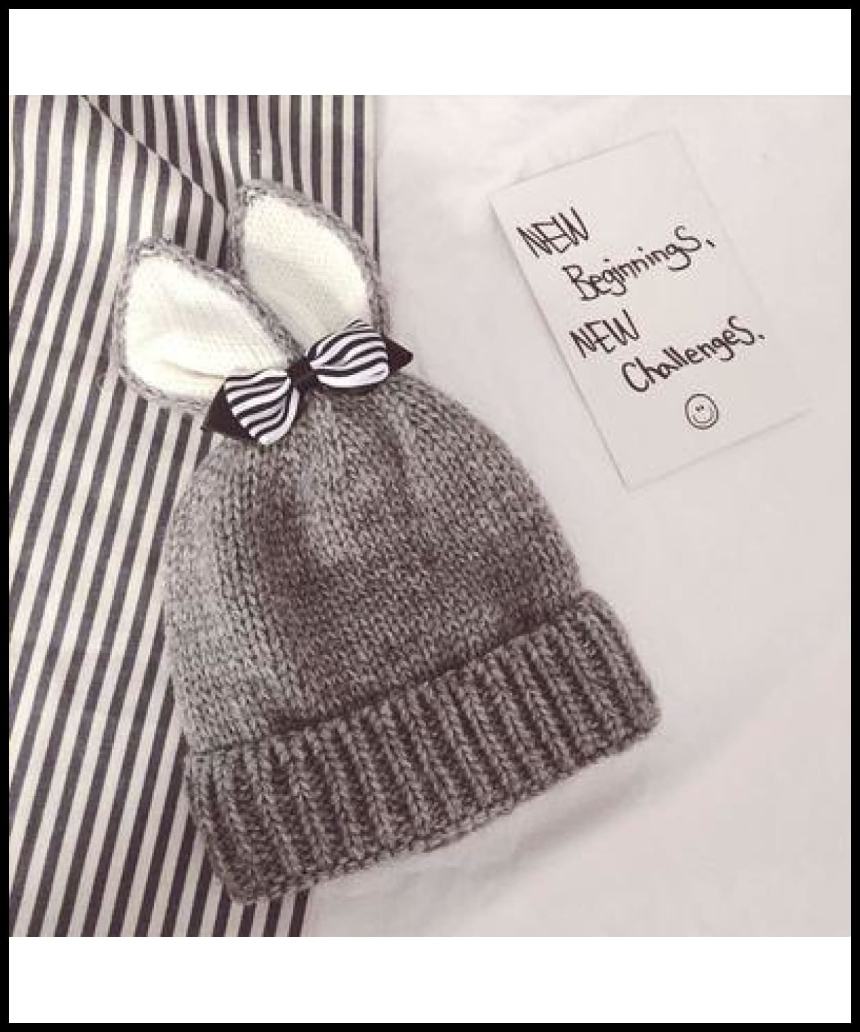 e2861263bdb ... Mingjiebihuo Autumn And Winter Plus Velvet Cute Rabbit Ears Bow Warm  Curling Men And Women Baby