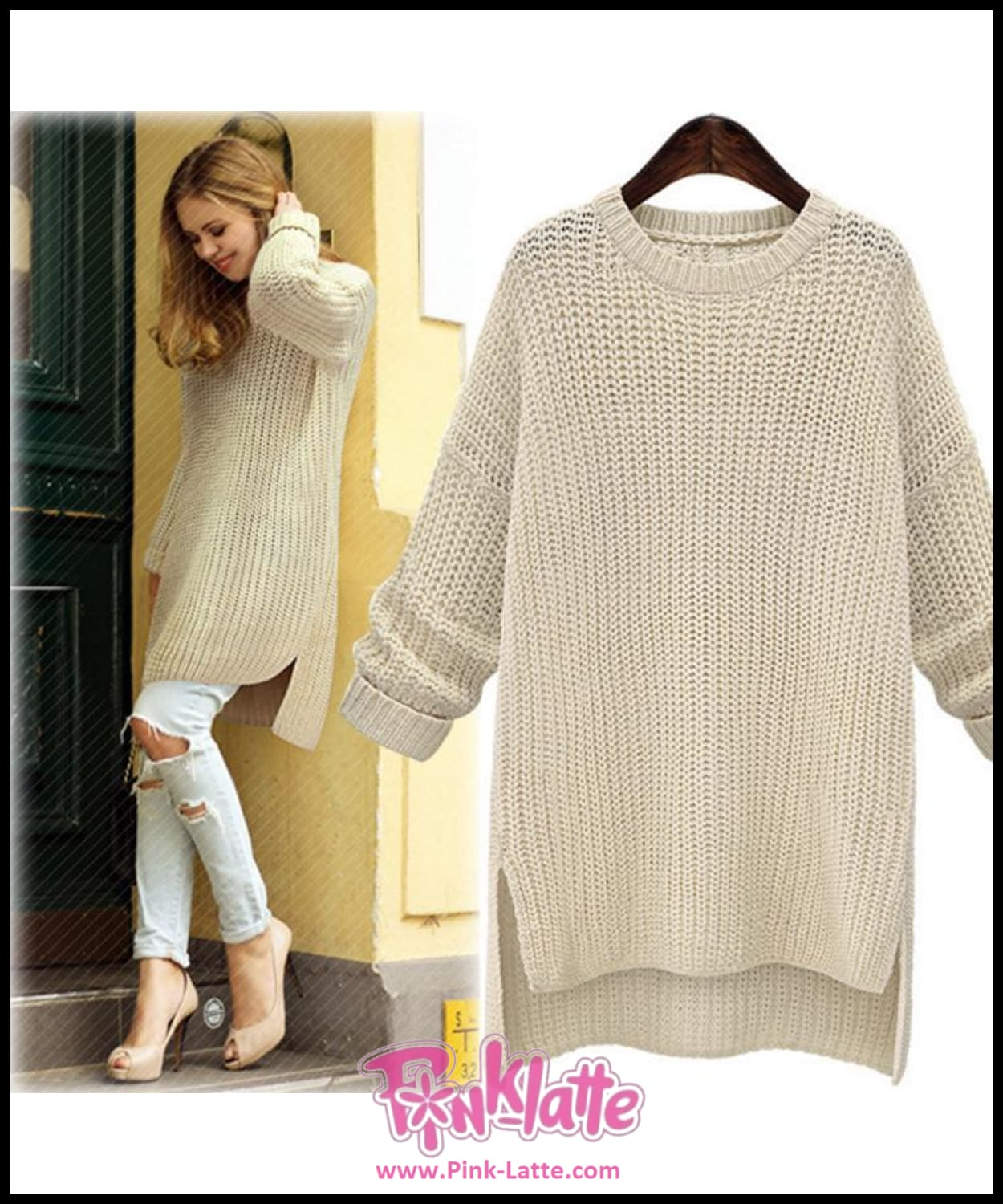 New Open Fork Long Sweater Coat Pulover Feminino Autumn Winter Women