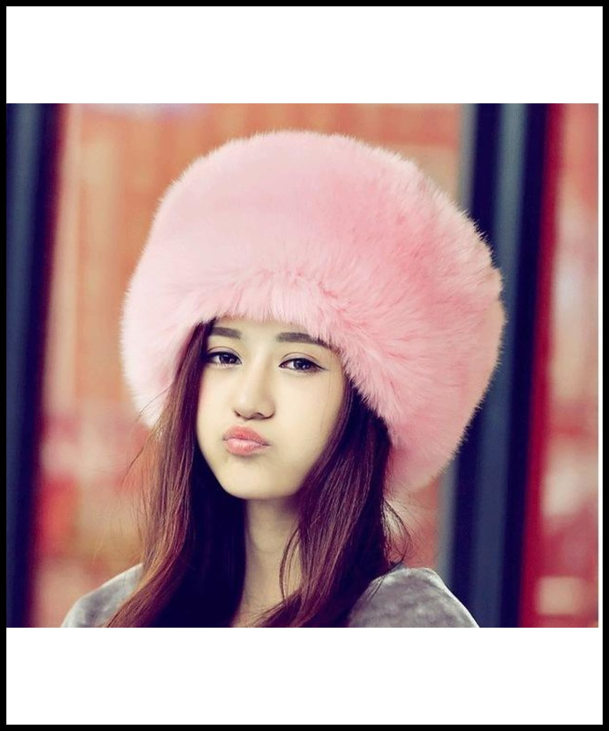 2a7bccebdc0 ... Russian Ushanka Caps Womens Rabbit Fur Hat For Winter Genuine Leather  Fur Tapper Hat With Fur ...