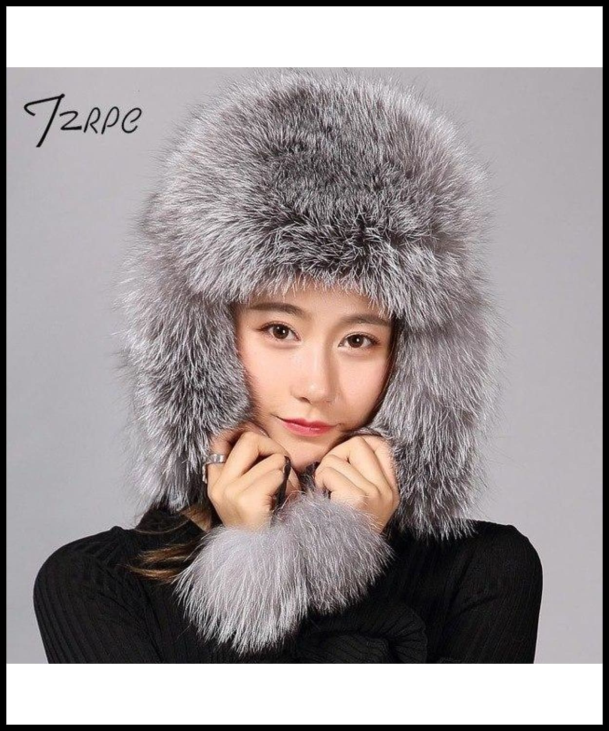 dd2eb227d91 ... Tzrpc Fur Hat For Women Natural Raccoon Fox Fur Russian Ushanka Hats  Winter Thick Warm Ears ...