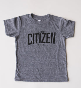 "MINI CITIZEN - ""Mini Citizen Est. 2018"" Youth Tri-Blend"