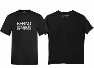 "MINI CITIZEN - ""Behind Every Good Goalie"" Youth Short Sleeved Dri-Fit"