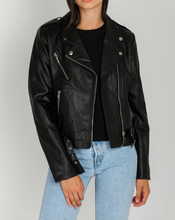 "BRUNETTE THE LABEL - The ""FLORENCE"" Vegan Leather Moto Jacket"