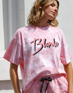 "BRUNETTE THE LABEL - The ""BLONDE"" Tie-Dye Vintage Boxy Tee 