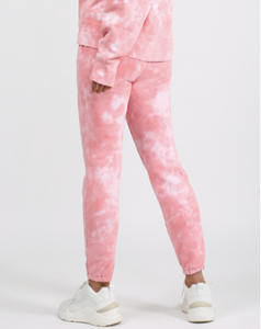 BRUNETTE THE LABEL - The Best Friend Pink Marble Tie-Dye Jogger | Juicy Couture
