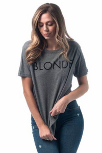 BRUNETTE THE LABEL - The BLONDE Tee | Heather Grey