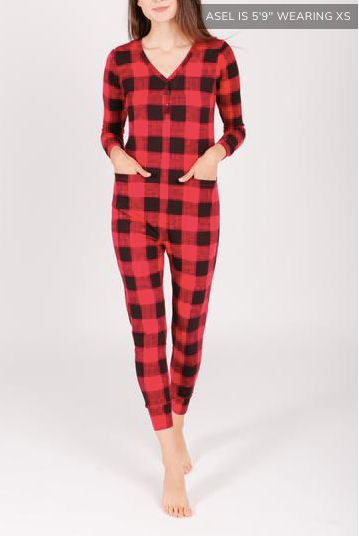 SMASH+TESS - The Present Romper | Poinsettia Plaid