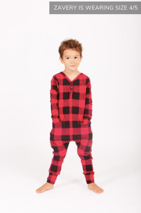 SMASH+TESS - Mini Present Romper | Poinsettia Plaid