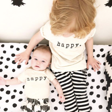 "TENTH & PINE - ""Happy"" Organic Onesie"