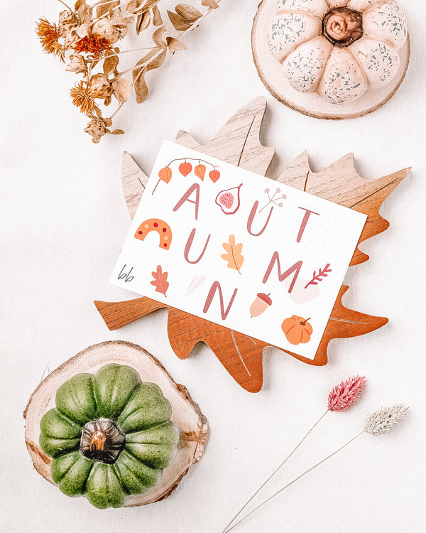 Autumn Leaves Postcard