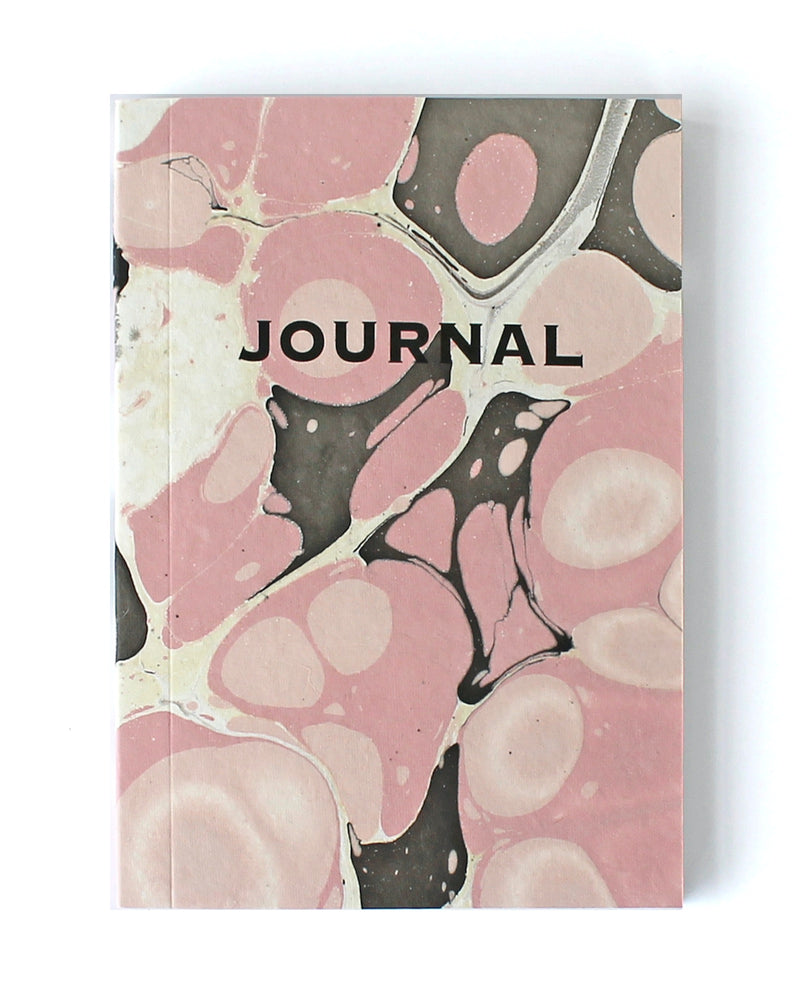 Pink & Brown Marble Journal
