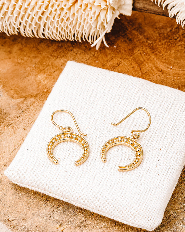 Blaise Bijoux Crescent Horn Earrings