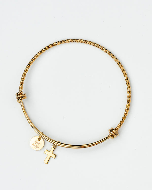 Blaise Bijoux Cross Twisted Wire Bangle