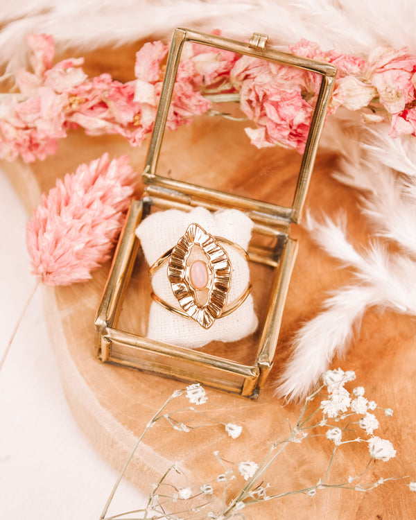 Dreamy Eyes Rose Quartz Ring