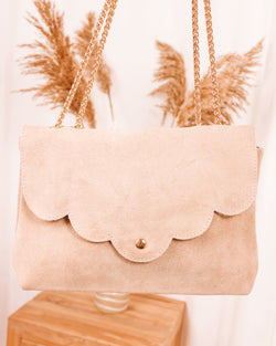 Easy Living Suède Beige Leather Purse