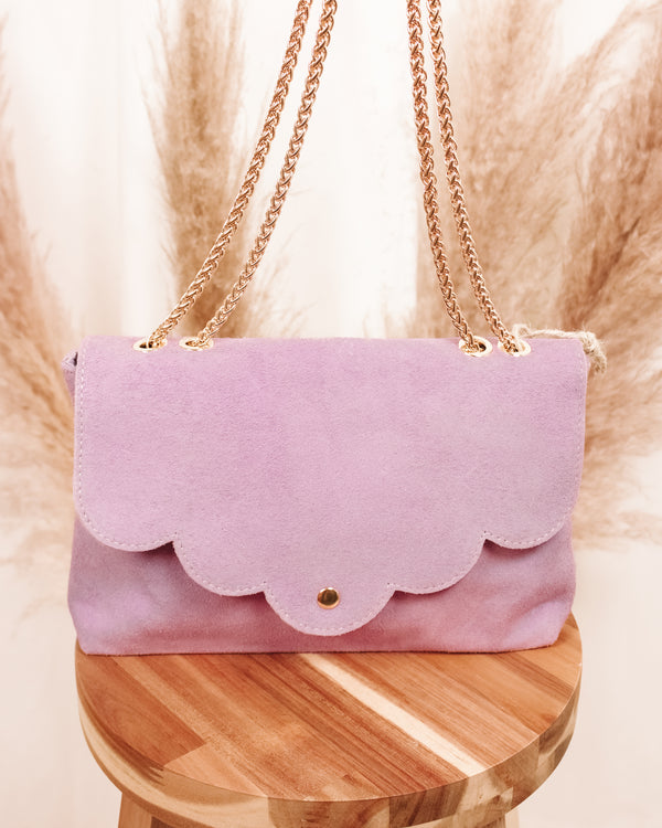 Easy Living Suède Lilac Leather Purse