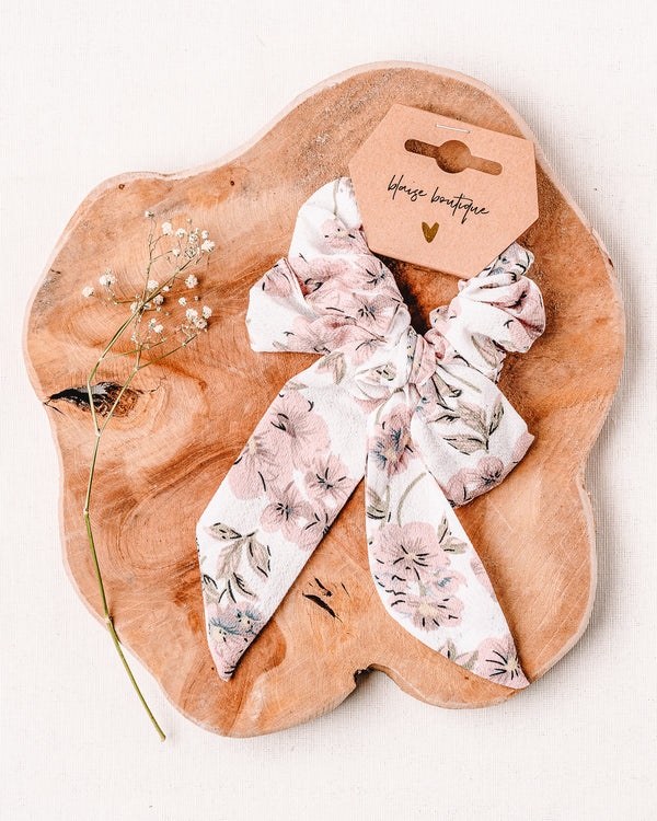 Flower Power Knotted Scrunchie
