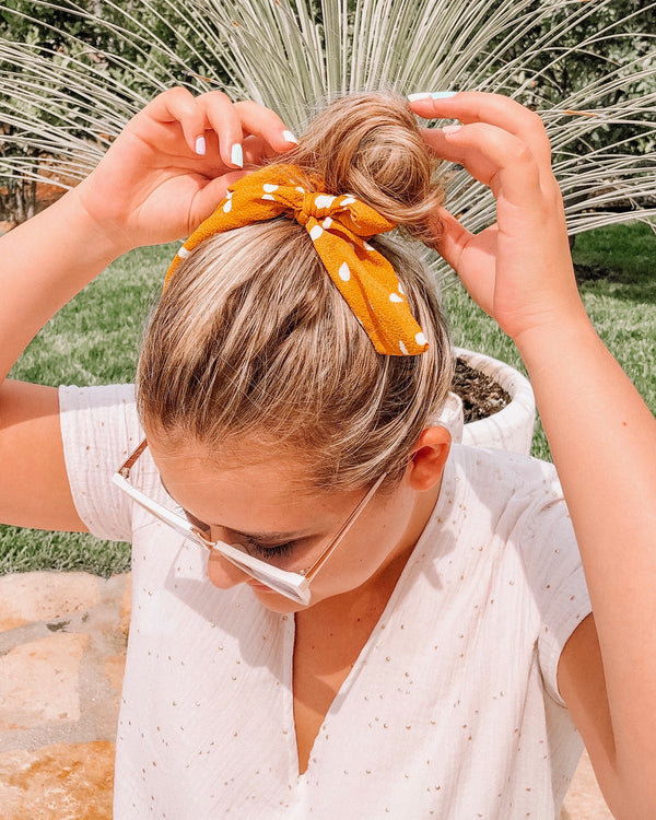 Lottie Dottie Knotted Scrunchie