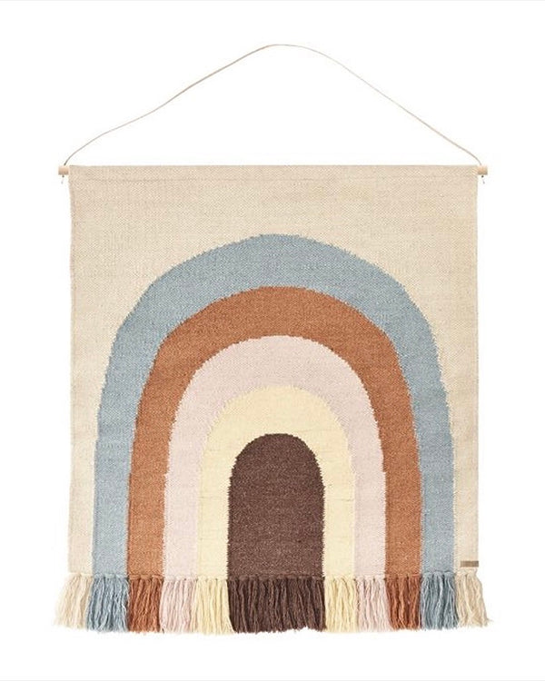 OYOY Mini Follow The Rainbow Wall Rug